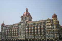 Taj Mahal Hotel in Mumbai Bombay India - voorschot Stock Foto