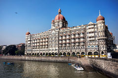 Taj Mahal hotel in Mumbai royalty free stock photos