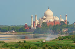 Taj Mahal i Agra, Indien Arkivfoto