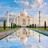 Taj Mahal i solnedgångljus, Agra, Indien Arkivbilder