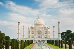 Taj Mahal i soluppgångljus, Agra Arkivbild