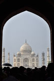 Taj Mahal iin the rain Royalty Free Stock Photography