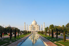 Taj Mahal im Sonnenunterganglicht, Agra, Uttar Pradesh, Indien Lizenzfreie Stockbilder