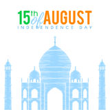 Taj Mahal independence day. Indian national flag tricolors theme background for Indian Republic day and Independence day with Taj Mahal. 15 th of august. Vector royalty free illustration