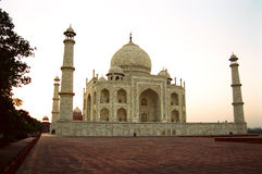 Taj Mahal, India. A close look of the Taj Mahal at evening time stock photography