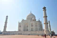 Taj Mahal India. The Taj Mahal is a mausoleum at Agra in northern India, built by the Mogul emperor Shah Jahan (1592–1666) in memory of his favorite wife Royalty Free Stock Photo