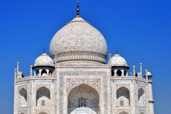 Taj Mahal.India. The Taj Mahal is a mausoleum at Agra in northern India, built by the Mogul emperor Shah Jahan (1592–1666) in memory of his favorite wife Royalty Free Stock Image