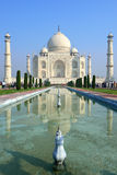 Taj Mahal, India. The Taj Mahal  crown of palaces,  is a white marble mausoleum located in Agra, Uttar Pradesh, India. It was built by Mughal emperor Shah Jahan Stock Image