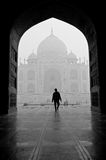Taj Mahal in India. One is to visit the Taj Mahal Indian royalty free stock image