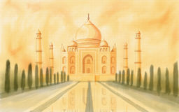 Taj Mahal India ilustração royalty free