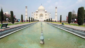 Taj Mahal in India stock footage