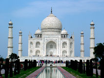 Taj Mahal, India. The Taj Mahal was built by Emperor Shah Jahan as a mausoleum for his wife Mumtaj in 1631 AD Stock Images