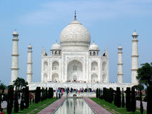 Taj Mahal, India. The Taj Mahal was built by Emperor Shah Jahan as a mausoleum for his wife Mumtaj in 1631 AD Stock Image