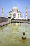 Taj mahal of India. With water Royalty Free Stock Photo