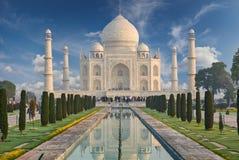 Taj Mahal India, Agra 7 światowych cudów Piękna Tajmahal mostownica Zdjęcia Royalty Free