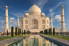 Taj Mahal India, Agra 7 światowych cudów Piękna Tajmahal mostownica Zdjęcie Stock