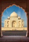 Taj Mahal India, Agra 7 światowych cudów Piękna Tajmahal mostownica Fotografia Stock