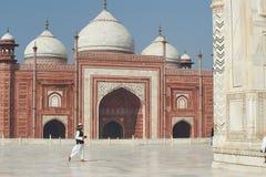 Taj Mahal India, Agra 7 światowych cudów Piękna Tajmahal mostownica Obrazy Stock