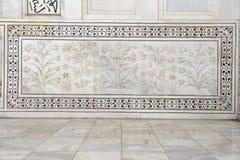 Taj Mahal India, Agra 7 światowych cudów Piękna Tajmahal mostownica Fotografia Royalty Free