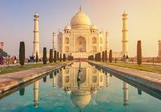 Taj Mahal India, Agra wereld 7 is benieuwd Mooie Tajmahal trave Royalty-vrije Stock Fotografie