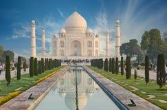 Taj Mahal India, Agra. 7 world wonders. Beautiful Tajmahal trave Stock Images