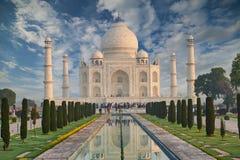 Taj Mahal India, Agra. 7 world wonders. Beautiful Tajmahal trave Royalty Free Stock Photo