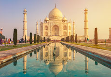 Taj Mahal India, Agra. 7 world wonders. Beautiful Tajmahal trave Royalty Free Stock Photography
