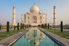 Taj Mahal India, Agra. 7 world wonders. Beautiful Tajmahal trave Royalty Free Stock Photos