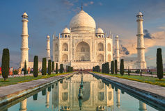 Taj Mahal India, Agra. 7 world wonders. Beautiful Tajmahal travel destination.