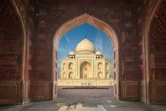 Taj Mahal India, Agra. 7 world wonders. Beautiful Tajmahal trave Stock Photos
