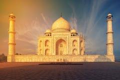 Taj Mahal India, Agra. 7 world wonders. Beautiful Tajmahal trave Royalty Free Stock Photography