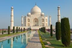 Taj Mahal India, Agra. 7 world wonders. Beautiful Tajmahal trave Royalty Free Stock Images