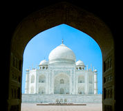 Taj Mahal in  India through archway Stock Images