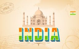 Taj Mahal in India Background Stock Image