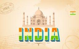 Taj Mahal in India Background Stock Image