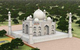 Taj Mahal in India. Computer generated 3D illustration with the Taj Mahal in India royalty free illustration