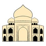 Taj Mahal, India icon cartoon Stock Photo