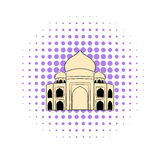 Taj Mahal, India icon, comics style Royalty Free Stock Photography