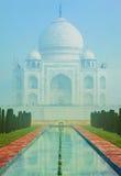 Taj Mahal in India  on misty morning Stock Image