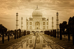 Taj mahal india monument Stock Image