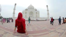 Taj Mahal in India stock footage