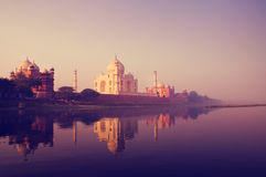 Taj Mahal India Seven Wonders Concept Royalty Free Stock Image