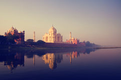 Taj Mahal India Seven Wonders Concept.  Royalty Free Stock Photos