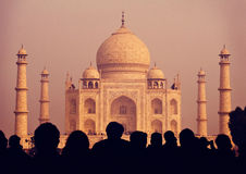 Taj Mahal India Seven Wonders Concepts Stock Photo