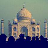 Taj Mahal India Seven Wonders Famous Place Concept Royalty Free Stock Image