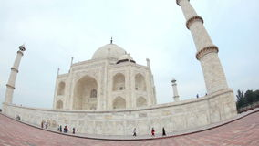 Taj Mahal in INDIA stock video footage