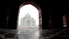 Taj Mahal in INDIA stock video