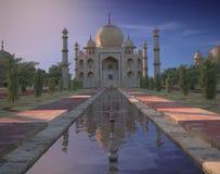 Taj Mahal India Sunset Stock Photo