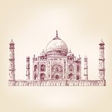 Taj Mahal, India vector illustration Stock Photography