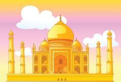 Taj Mahal in India. Vector illustration Royalty Free Stock Photo
